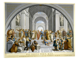 Acrylic print  School of Athens (after Raphael) to 1771-79 - Giovanni Volpato