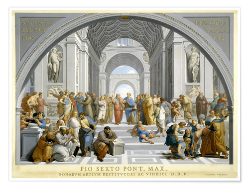 Premium poster School of Athens (after Raphael) to 1771-79
