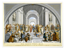 Premium poster  School of Athens (after Raphael) to 1771-79 - Giovanni Volpato