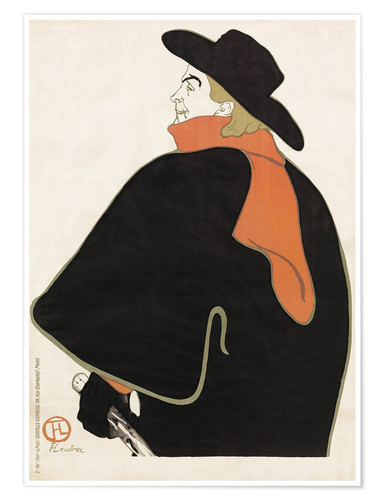 Premium poster Aristide Bruant in his cabaret
