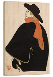 Wood print  Aristide Bruant in his cabaret - Henri de Toulouse-Lautrec