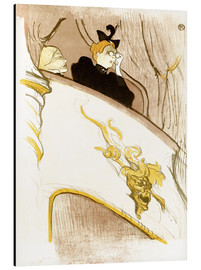 Aluminium print  The Loge with the golden mask - Henri de Toulouse-Lautrec