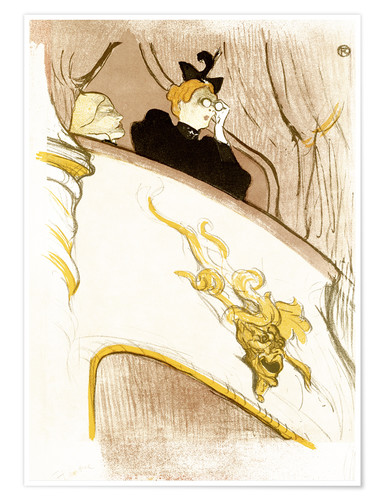 Premium poster The Loge with the golden mask