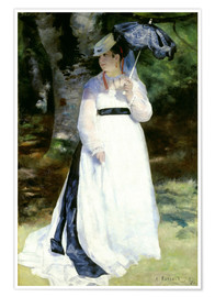 Premium poster Lise with Parasol