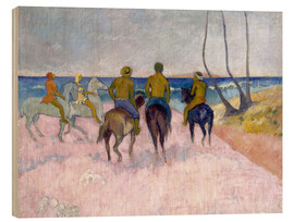 Wood print  Riders on the beach (I) - Paul Gauguin