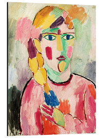 Aluminium print  Girl with blue eyes and braid - Alexej von Jawlensky