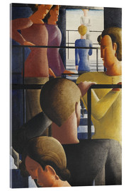 Acrylic print  Group on the Railing - Oskar Schlemmer