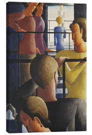 Canvas print  Group on the Railing - Oskar Schlemmer