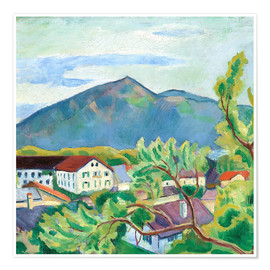 Premium poster  Spring landscape in Tegernsee - August Macke