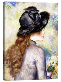 Canvas print  Girl with tulips - Pierre-Auguste Renoir