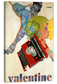 Canvas  Typewriter 'Valentine' by Olivetti