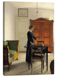 Canvas  Ida in an Interior - Vilhelm Hammershøi