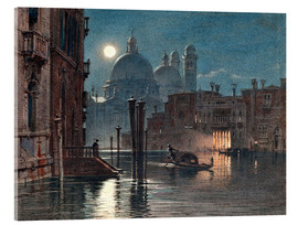 Acrylic print  Venice at moonlight - Carl Friedrich Heinrich Werner