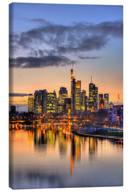 Canvas print  Frankfurt skyline reflected in the Main - HADYPHOTO
