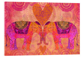 Acrylic glass  Elephants in Love - Andrea Haase