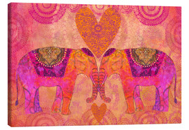 Canvas print  Elephants in Love - Andrea Haase