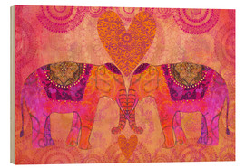 Wood  Elephants in Love - Andrea Haase