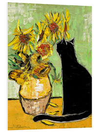 Foam board print  The cat of Van Gogh - JIEL