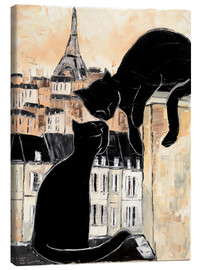 Canvas print  Cats whispers - JIEL