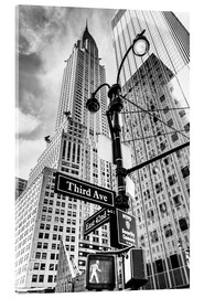 Acrylic print  Chrysler Building, New York City (monochrome) - Sascha Kilmer