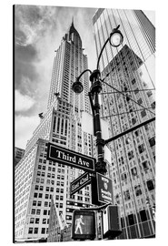 Alu-Dibond  Chrysler Building, New York City (monochrome) - Sascha Kilmer