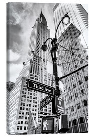 Canvas print  Chrysler Building, New York City (monochrome) - Sascha Kilmer