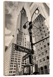 Wood print  Chrysler Building, New York City (monochrome) - Sascha Kilmer