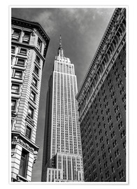 Premium poster Empire State Building - NYC (monochrome)