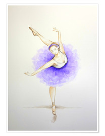 Premium poster Ballet Dancer in Purple