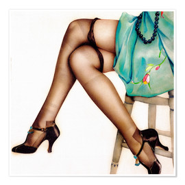 Premium poster  Black Stockings - Alberto Vargas