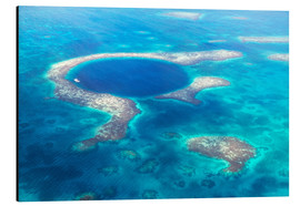 Aluminium print  Great Blue Hole, Belize - Matteo Colombo
