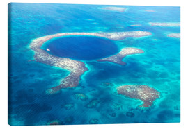 Canvas print  Great Blue Hole, Belize - Matteo Colombo