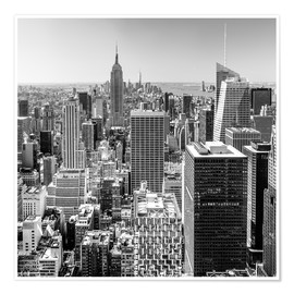 Premium poster  Top Of The Rock - New York City (monochrome) - Sascha Kilmer