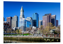 Foam board print  Boston Downtown - Columbus Waterfront Park - Sascha Kilmer