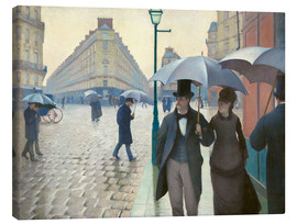 Canvas print  Paris Street, rainy day - Gustave Caillebotte