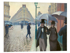 Foam board print  Paris Street, rainy day - Gustave Caillebotte
