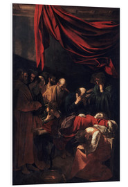 Foam board print  Death of the Virgin - Polidoro da Caravaggio