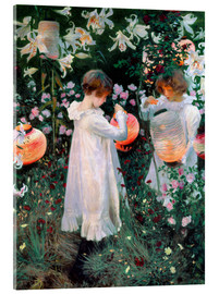 Acrylic glass  Carnation, Lily, Rose - John Singer Sargent