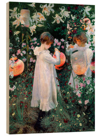 Wood  Carnation, lily, rose - John Singer Sargent