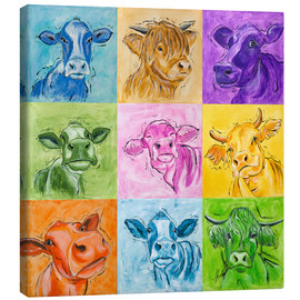 Canvas print  Big cows parade - Annett Tropschug