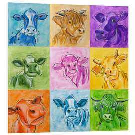 Foam board print  Big cows parade - Annett Tropschug