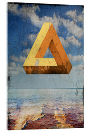 Acrylic print  Penrose triangle - Dieter Ziegenfeuter