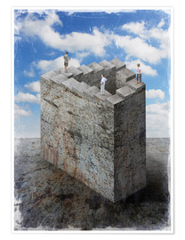 Premium poster  Penrose stairs - Dieter Ziegenfeuter