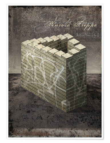 Poster Penrose stairs vintage