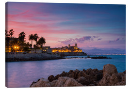 Canvas print  Antibes at sunset, Provence - Circumnavigation