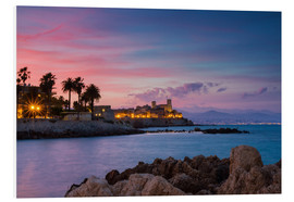 Foam board print  Antibes at sunset, Provence - Circumnavigation