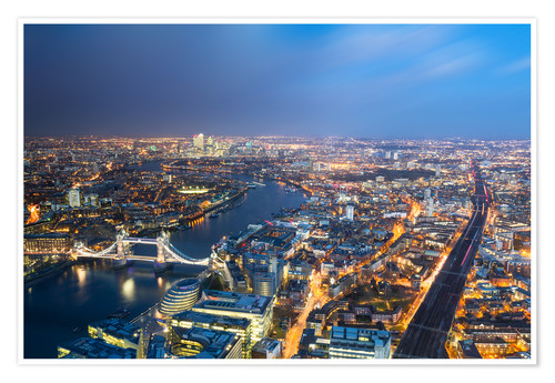 Premium poster Cityscape of London at night