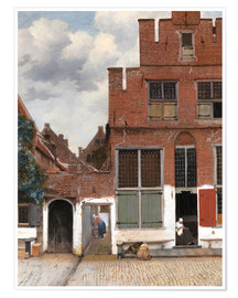 Poster  The Little Street - Jan Vermeer