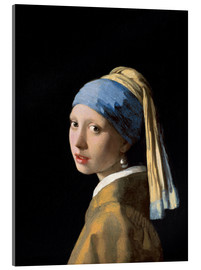 Acrylic glass  Girl with the Pearl Earring - Jan Vermeer