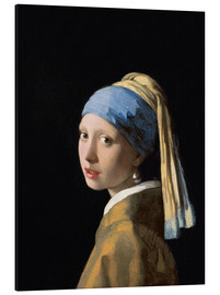 Aluminium print  Girl with the Pearl Earring - Jan Vermeer